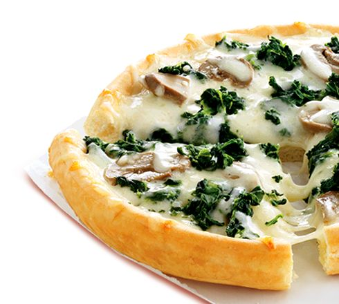 Lean Cuisine Deep Dish Spinach & Mushroom Pizza: spinach,mushrooms and ...
