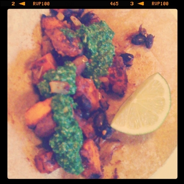 Sweet Potato and Black Bean Tacos/Quesadillas with Swiss Chard Pesto ...