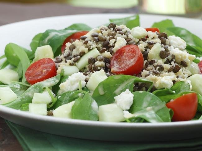 Couscous, lentil, and arugula salad | Favorite Recipes | Pinterest