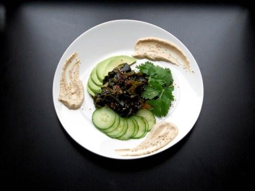 Seaweed salad with miso tahini dressing | Savour it | Pinterest