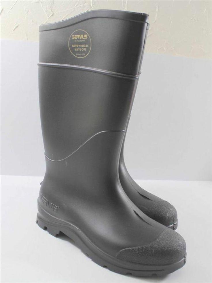 servus rubber boots black water muck mud mens 6