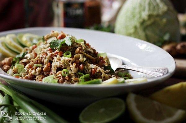Burmese Ginger Salad (Gin Thoke) - dish from Myanmar (Burma)