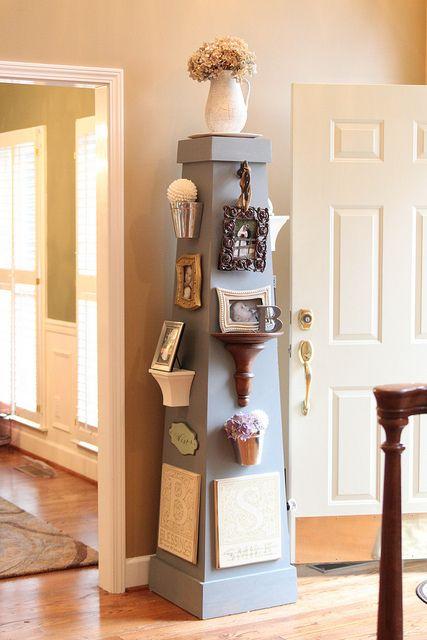 DIY Photo collage on a column