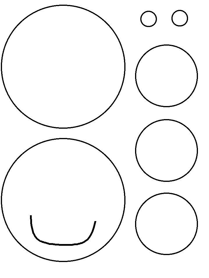 templates for circle polar bears! | Preschool | Pinterest