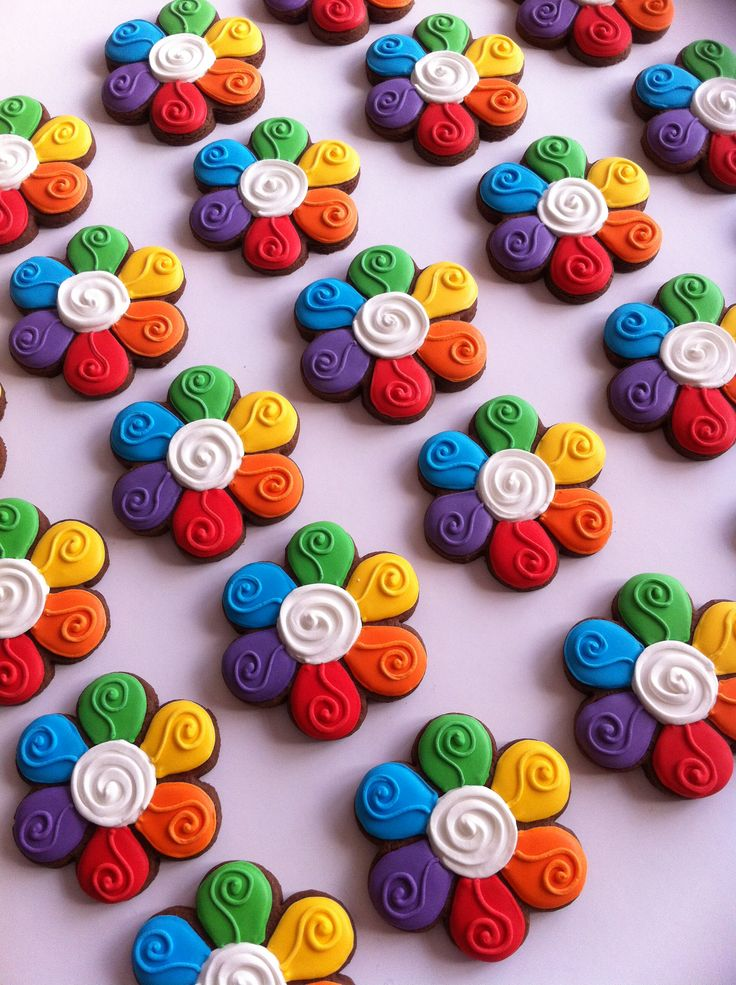 Rainbow cookies | Beautiful Cookies | Pinterest