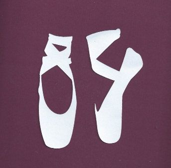 Ballet shoes silhouettes set of two by hilemanhouse on Etsy, $1.99 ...
