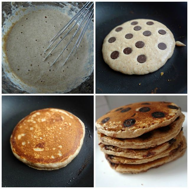 Whole Wheat Chocolate Chip Pancakes | Food | Pinterest