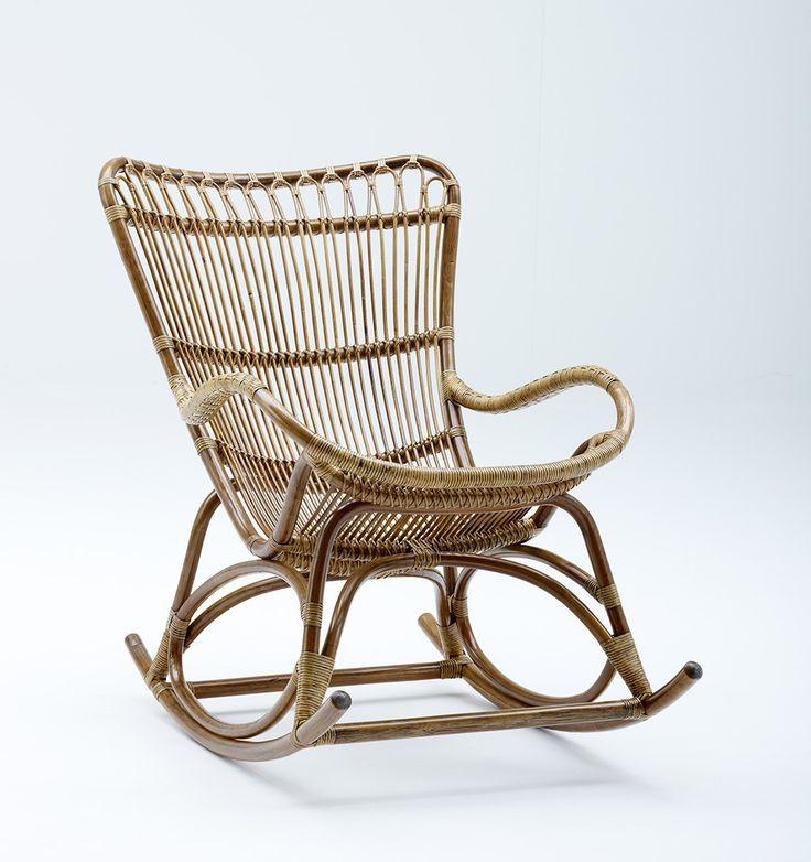 Rocking chair Monet en rotin  Objet déco & mobilier  Pinterest