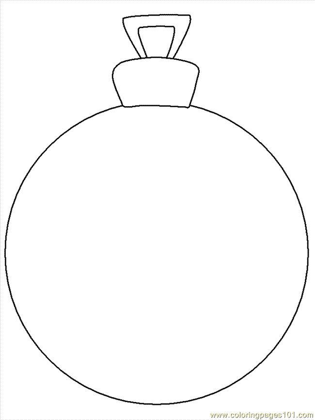 Christmas Printables Decorations Search Results New Blank Ornament Coloring Page