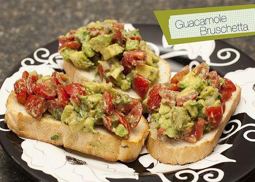 Guacamole Bruschetta. | NOM NOM YUMMMMY! | Pinterest