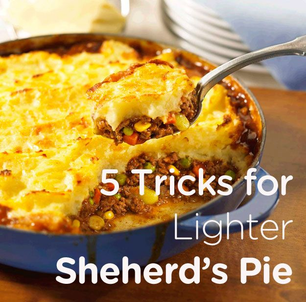 ... lighten up your Shepherd's Pie without losing any of the meaty