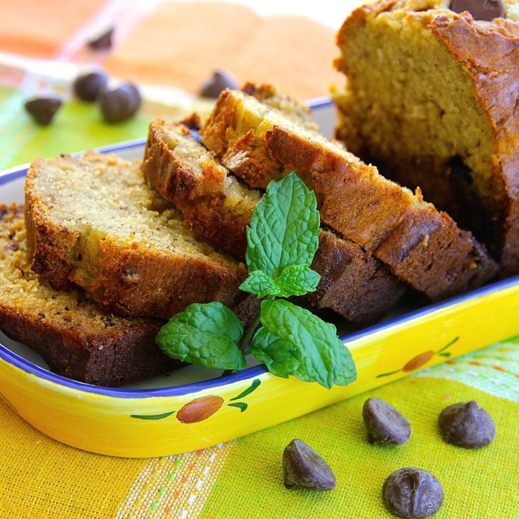 ... the chocolate chips in this rich banana bread. #AllrecipesAllstars