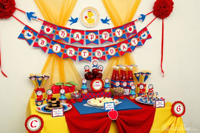 Snow White Birthday Party Ideas | Photo 1 of 50 | Catch My Party