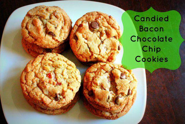 Candied Bacon Chocolate Chip Cookies | Mmmm.... Sweet Cookies & Bars ...