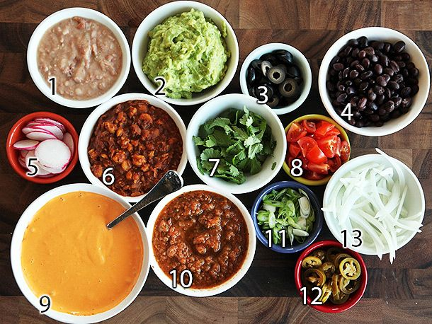 fry the chips, plus: Vegan refried beans (rich and spicy), Guacamole ...