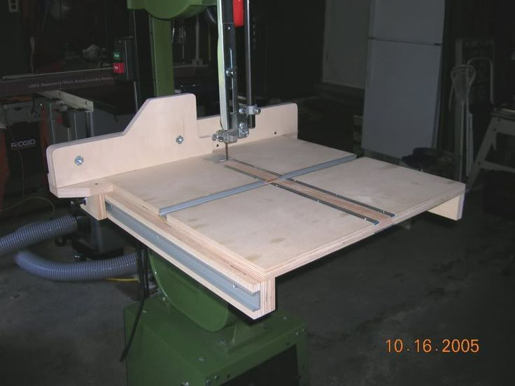 Band saw table plans bandsaw jigs projects pinterest for Table saw table plans