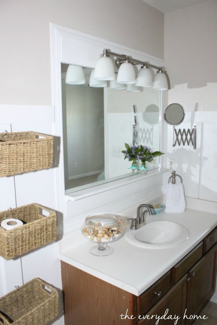 Master Bathroom Makeover On A Budget In A Flip House At The Everyday