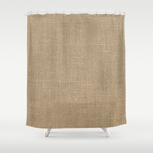 Shower Curtain Linen Look Rustic Decor by CallaAndClover, $75.00