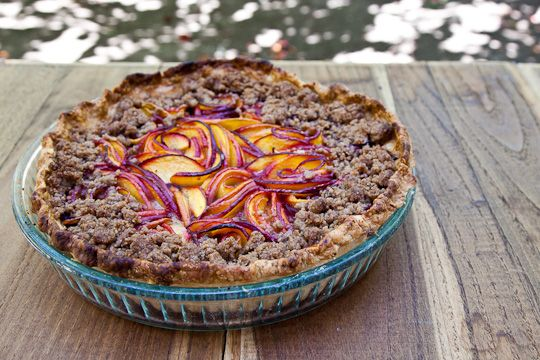 Nectarine Blackberry Open Faced Pie | Recipe