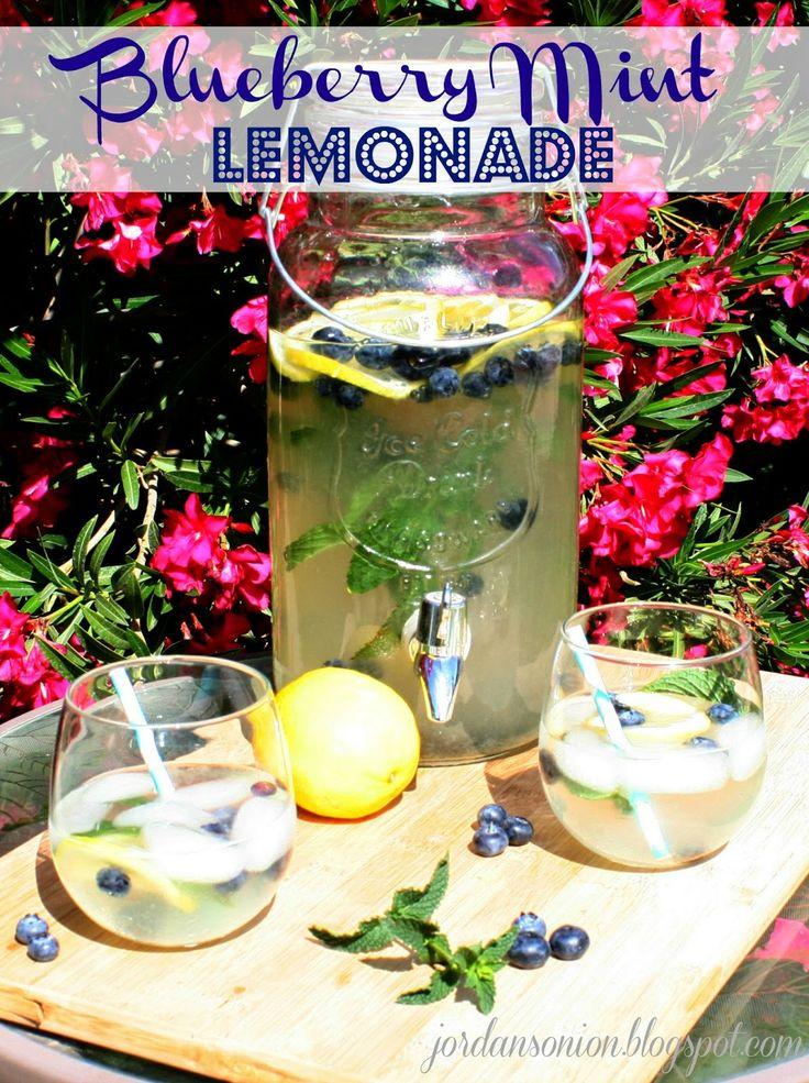 Jordan's Onion: Blueberry Mint Lemonade   Beverages   Pinterest