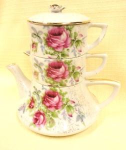 Dresdin Rose tea-for-one set