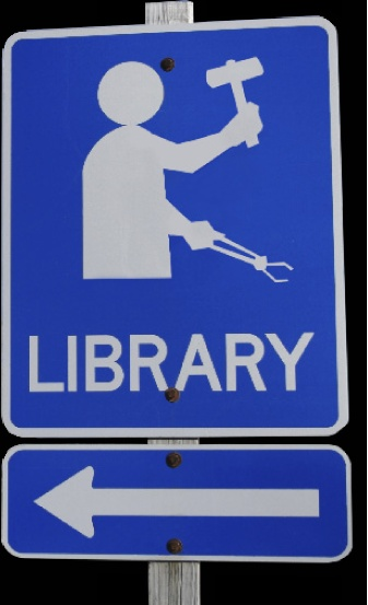 This way to the library