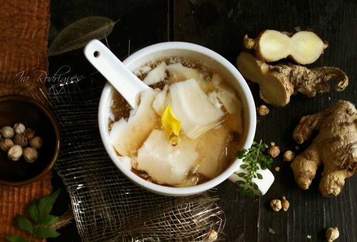 ... Tahwa - Smooth and silky tofu pudding drenched with sweet ginger syrup