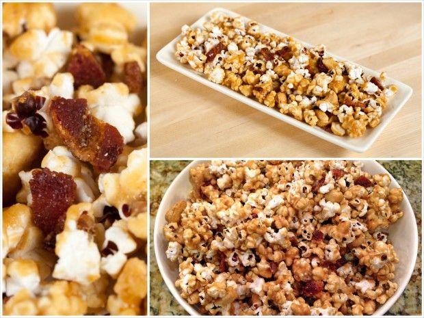 Bacon and Cashew Caramel Corn | Recipe