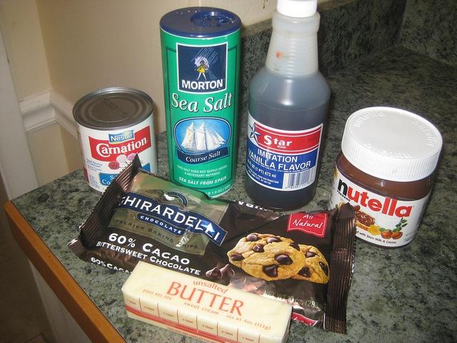 Nutella And Sea Salt Caramel Chocolate Fudge Recipe — Dishmaps