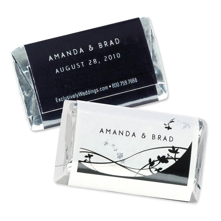 Personalized mini hershey s 174 bar wedding favors in floral design