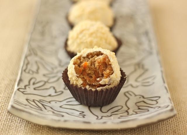 Carrot Cake Truffles recipe here - http://www.the-baker-chick.com/2012 ...