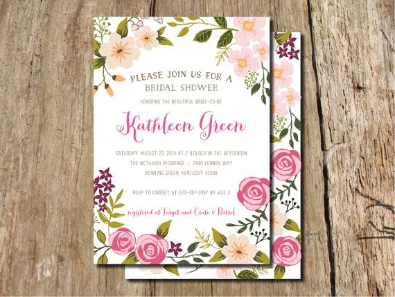 Floral Bridal Shower Invitations with good invitations example