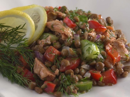 wiches lentil salad with tomato and dill recipes dishmaps lentil salad ...