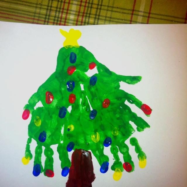 christmas tree handprint - photo #24