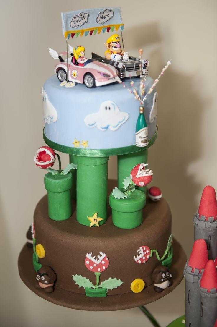Super Mario Kart Wedding Cake Mario Kart Wedding Cake Pinterest