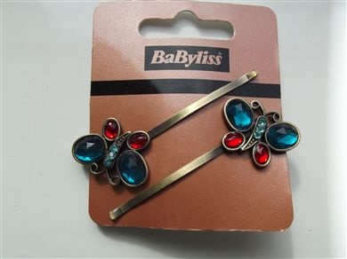 Babyliss set of 2 hair clips hair accessory bnwt turquoise on dark