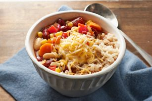 sautéed veggies make the base for this Two-Bean Vegetarian Chili ...