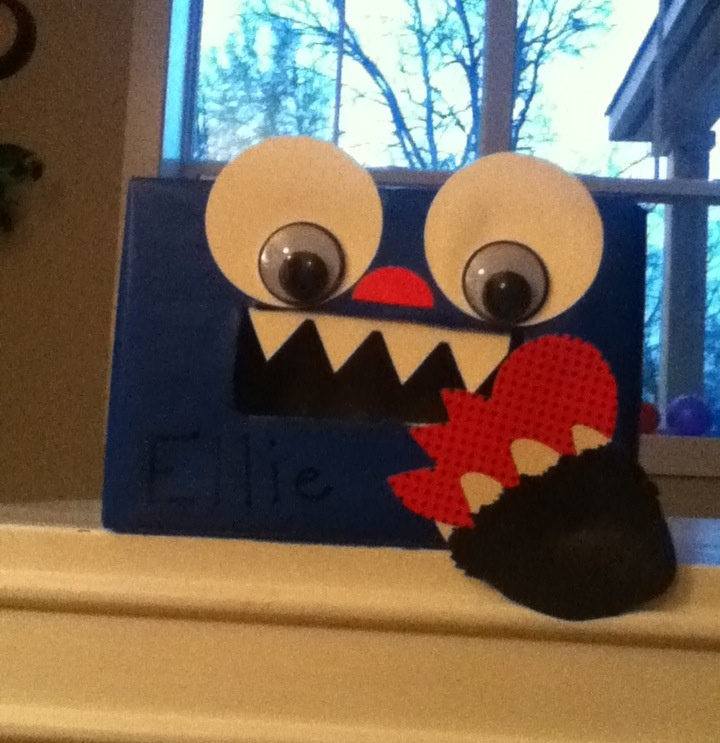 valentine's day box monster