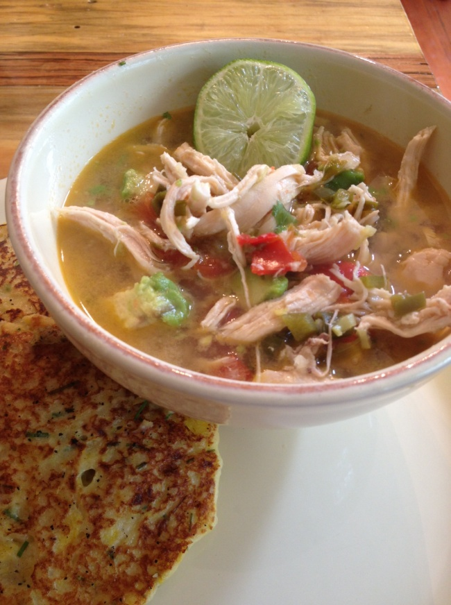 chicken+avocado soup and summer squash+chive pancakes #bungalowkitchen ...