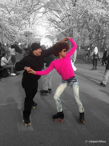 Ain t no stopping us now central park dance skaters