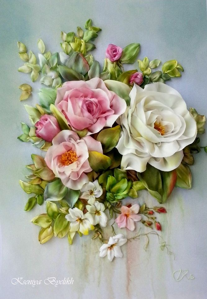 Pin by ludmila on Вышивка лентами silk ribbon embroidery