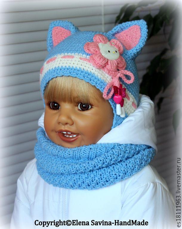 Вязание для детей до года шапочки девочка 79