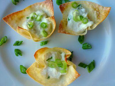 baked crab rangoon cups   Food and Fun   Pinterest