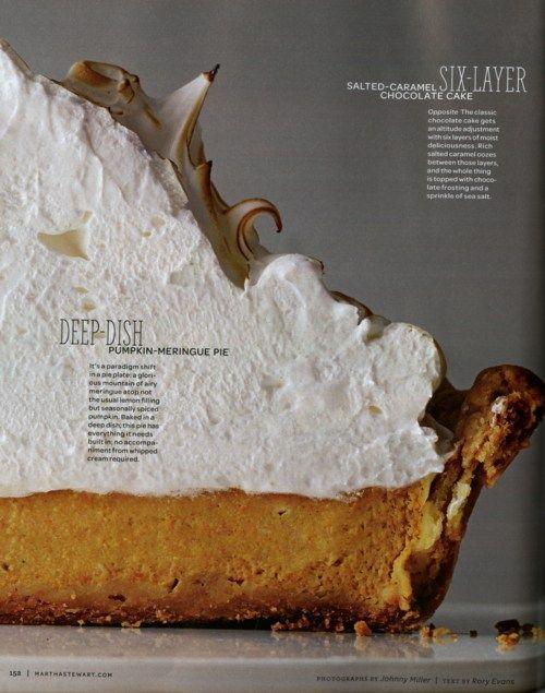 Deep dish pumpkin meringue pie ~f~ | Desserts | Pinterest
