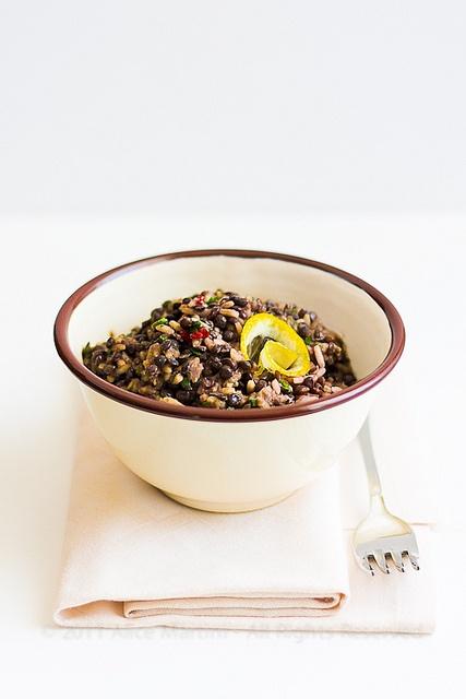 Thai Rice and Beluga Lentils (translate) | Lentils | Pinterest