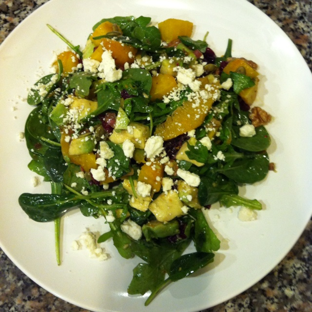 pumpkin seeds feta cheese shallots cranberry and walnuts in a balsamic ...