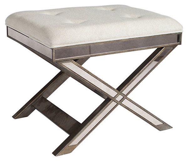 Graham mirrored vanity stool white for White bathroom stool