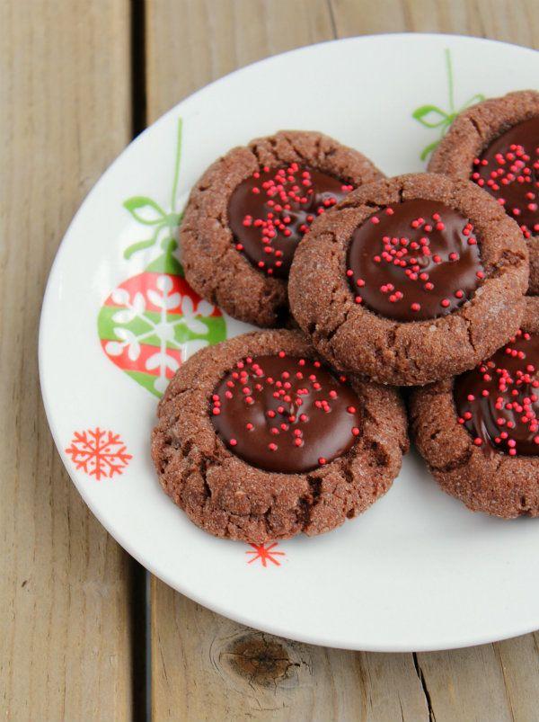 Chocolate-Cherry Thumbprints | Recipe