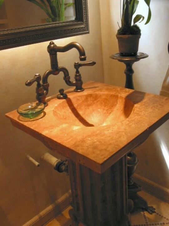 this pedestal sink for powder room Maple Pinterest