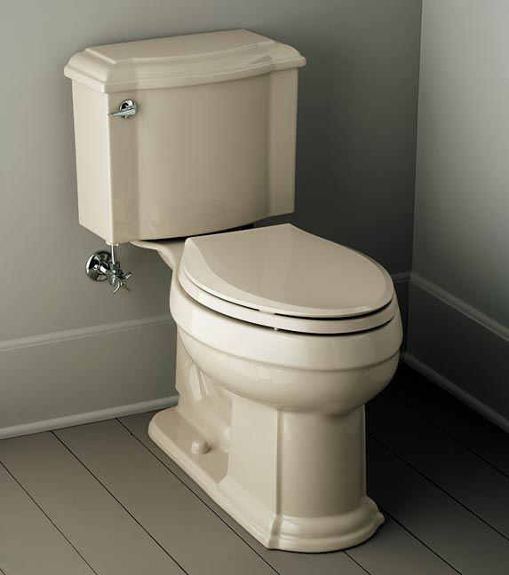 Kohlers Toilets : Devonshire toilet in Sandbar, Kohler Arts & Crafts style Pinterest